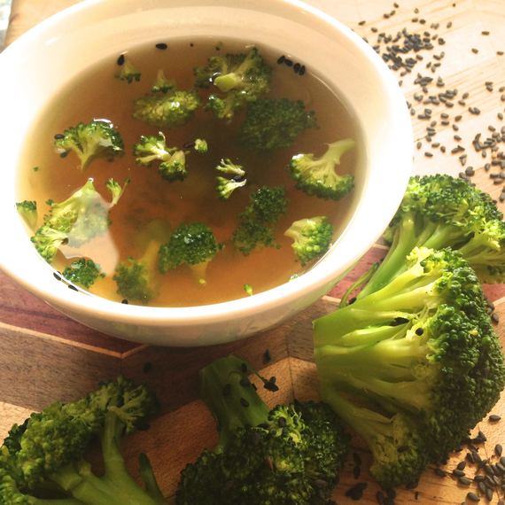 Sesame Broccoli Miso Soup