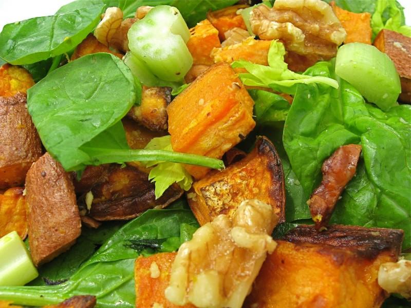 Sweet Potato Salad With Tahini and Ginger