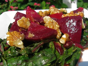 The Beet Goes On (Gingered Beets and Beet Greens)