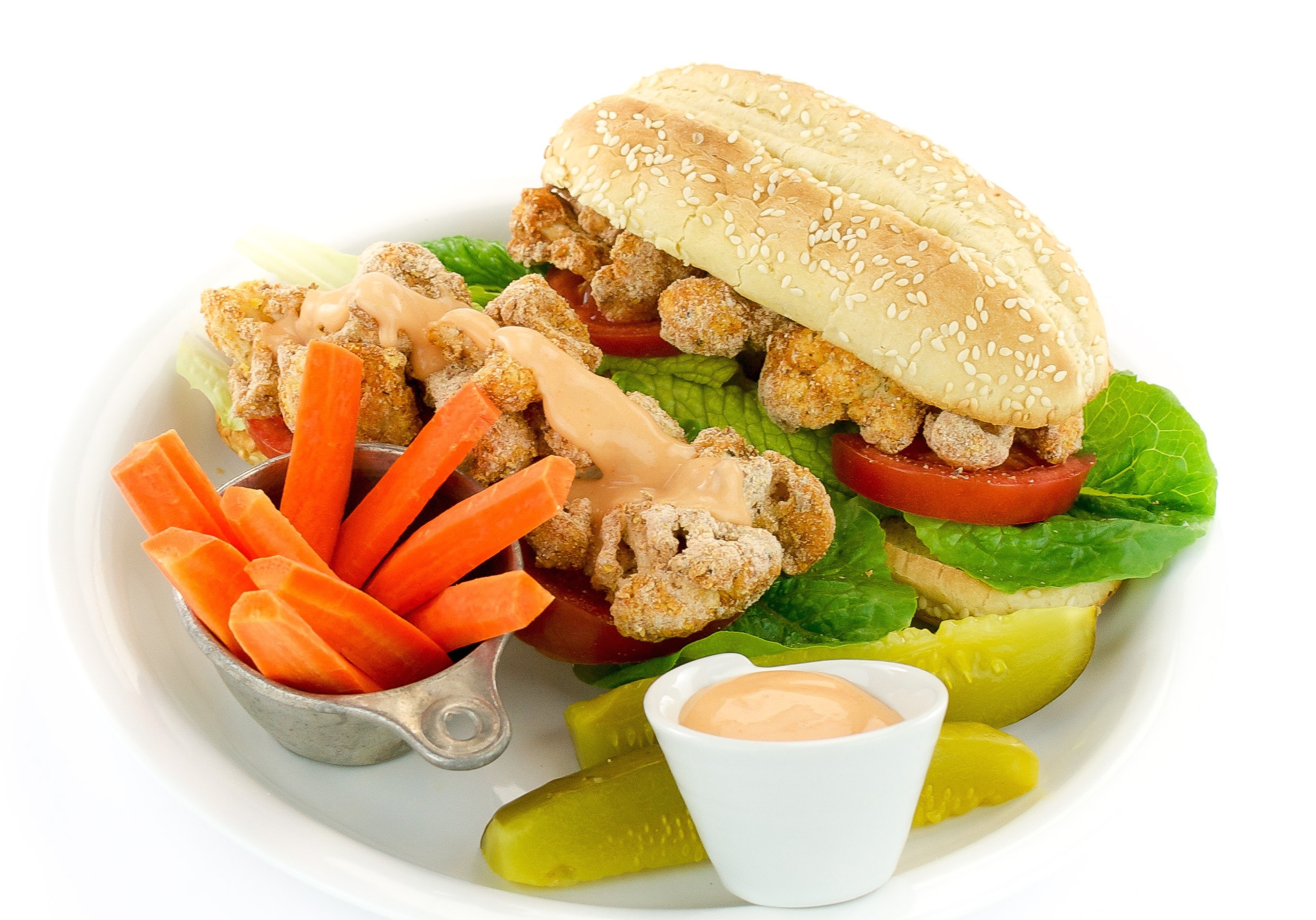 Spicy (or not) Cauliflower Po'Boy by Kathy Hestor