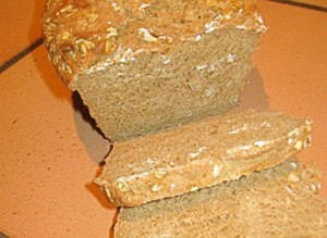 No-Knead Whole-Wheat Oatmeal Bread