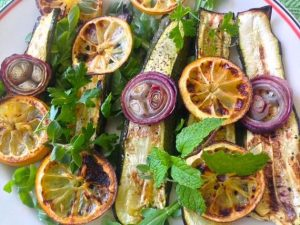 Grilled Zucchini and Lemon with Fresh Herbs