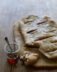 Rosemary Flatbread with Truffle Honey by Anna Thomas