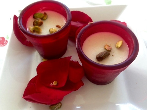 Malabi — Rose-Scented Almond Milk Pudding