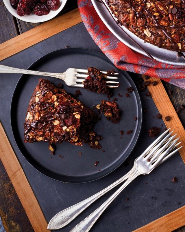 Chocolate Pecan Cranberry Coffee Cake