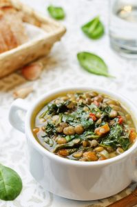 Lentil and Brown Rice Soup With Lemon and Mint