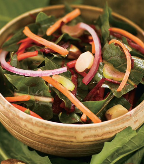Dandelion Salad with Beets