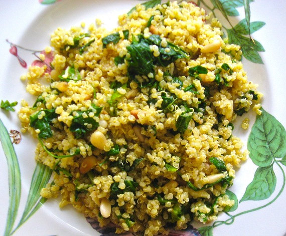 Quinoa With Mint Pesto and Spring Greens
