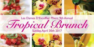 Les Dames d' Escoffier Miami 9th Tropical Brunch