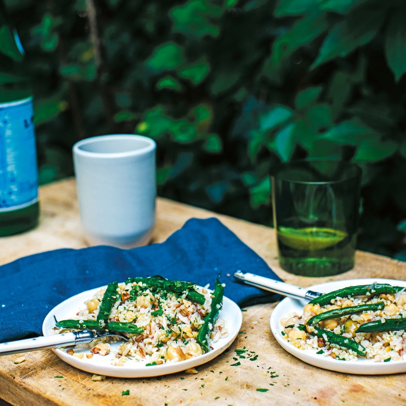 Provençal Grain Salad with Green Beans and Lemon-Parsley Oil