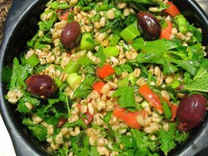 Biblical Barley and Herb Salad