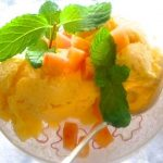 Mango Freeze in a dish.