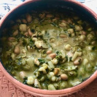 Hominy, Bean and Green Chili Stew