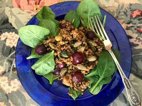 This salad include whole grains and other foods mentioned in Deuteronomy.