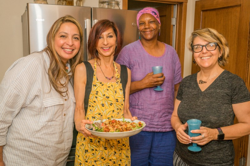 ellen gathering with friends cooking club