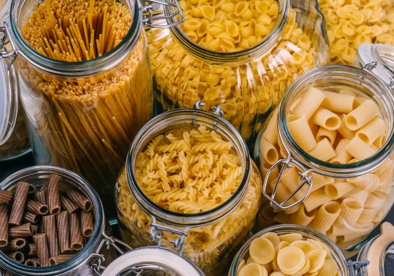 dried pasta shapes