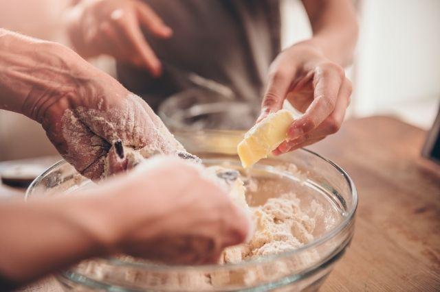 kitchen collab baking together