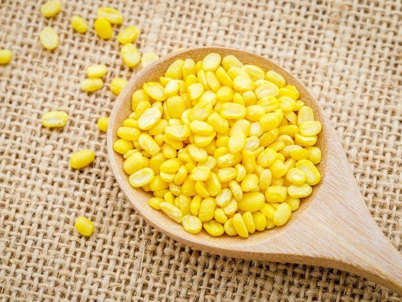 split mung beans for making dal