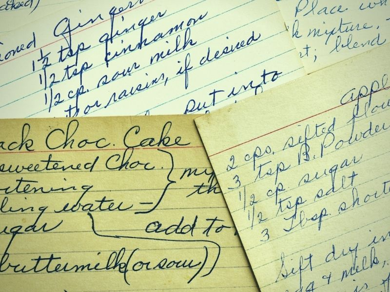 Family recipes are part of women's history.