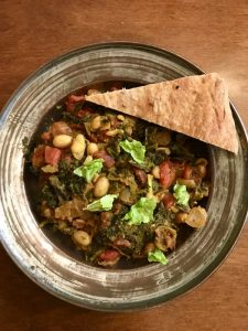 Ghormeh Sabzi in a bowl.